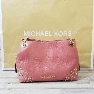 Michael Kors Jet Set Chain Messenger Rose